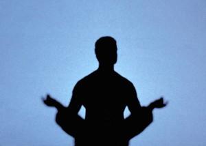 「瞑想」のシルエット